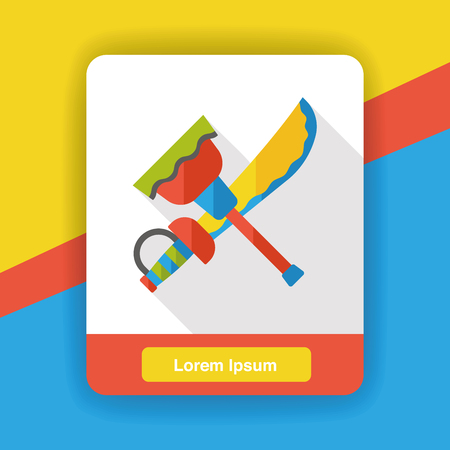 weapon: weapon sword flat icon Illustration