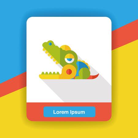 vicious: toy crocodile flat icon