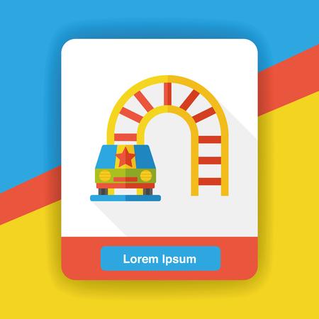 rollercoaster: amusement park roller coaster flat icon