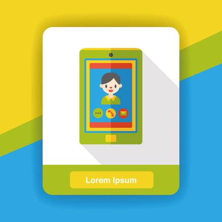cellphone icon: cellphone call flat icon