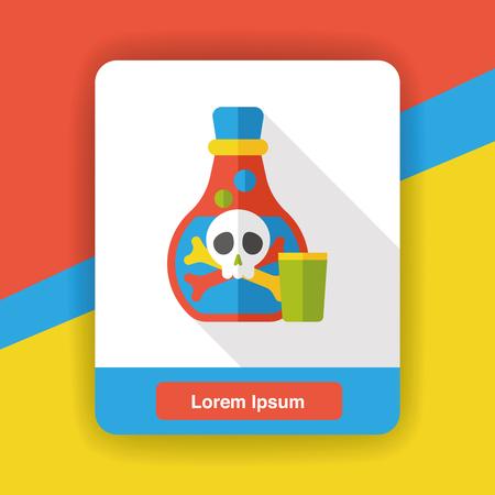 poison: Poison drug flat icon