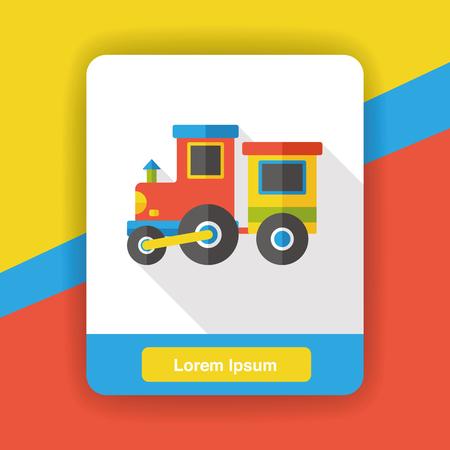toy train: toy train flat icon