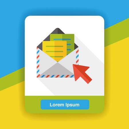 e mailing: office e-mail flat icon