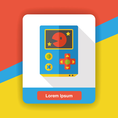 handheld device: Handheld game consoles flat icon
