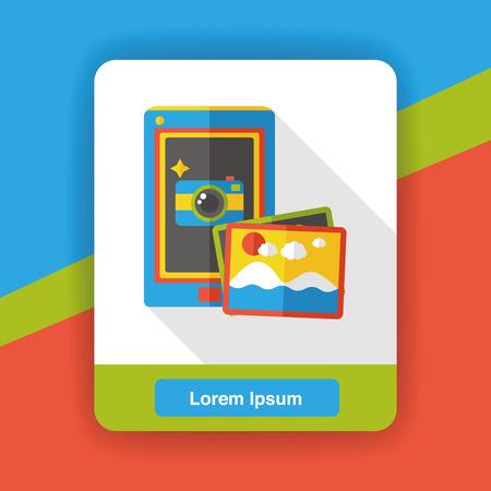 cellphone icon: cellphone photo flat icon Illustration
