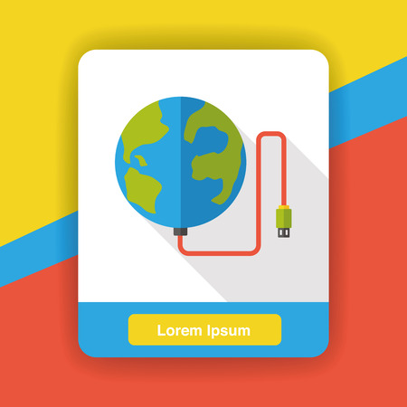 background design: internet global flat icon Illustration