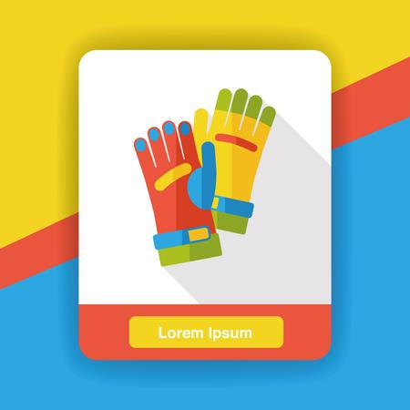 farm glove flat icon