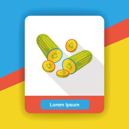 cucumber: vegetable cucumber flat icon