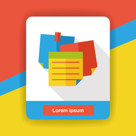 memo: Memo paper flat icon Illustration