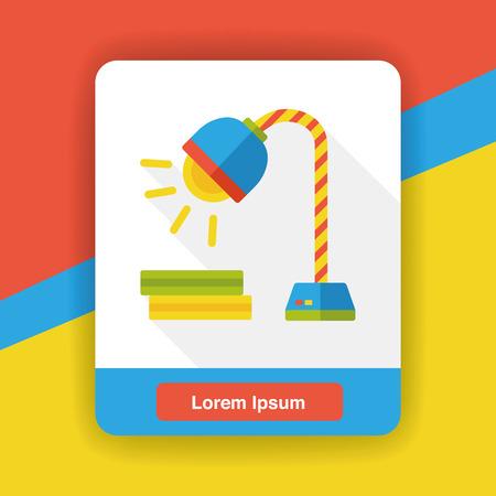 lamp light: lamp light flat icon