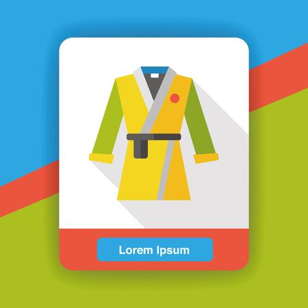 kata: Karate suit flat icon Illustration