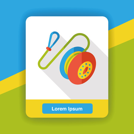 yoyo: toy yoyo flat icon