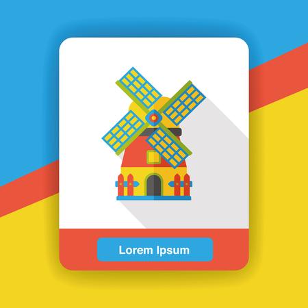 granary: farm warehouse flat icon Illustration