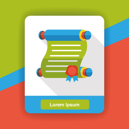 letter paper: letter paper flat icon