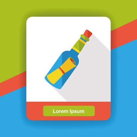 message in bottle: Message in a Bottle flat icon