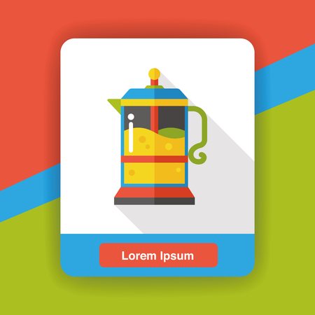 maker: coffee maker kettle flat icon Illustration