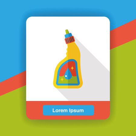 dry cleaners: cleaning detergent flat icon Illustration