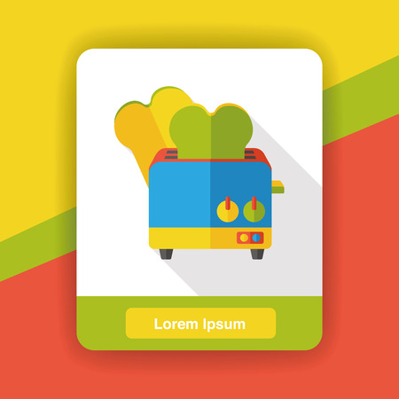appliance: appliance toaster flat icon Illustration