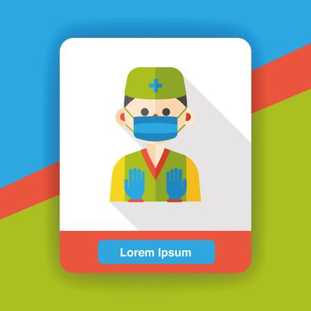 occupation: doctor occupation character flat icon Illustration