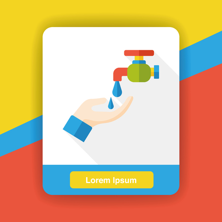 water faucet: water Faucet flat icon Illustration