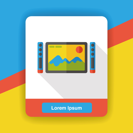 flat screen: TV screen flat icon