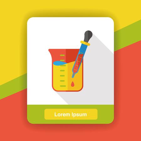 beaker: Experimento icono plana Beaker