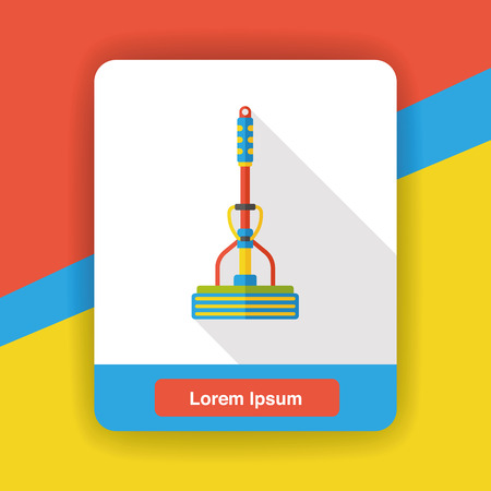 squeegee: cleaning mop flat icon Illustration