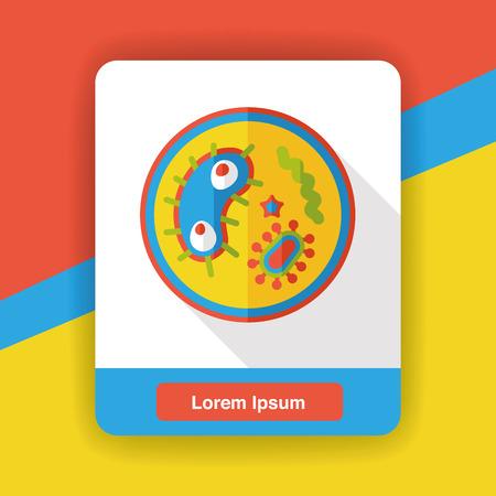 bacterial: bacterial virus flat icon