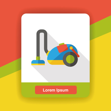 cleaner vacuuming symbol: Vacuum cleaner flat icon Illustration