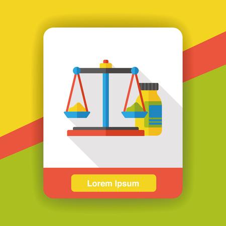weigh machine: Science balance flat icon