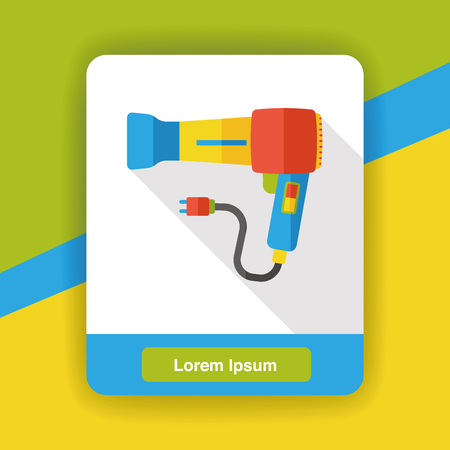 dryer: Hair dryer flat icon