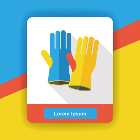latex glove: cleaning gloves flat icon