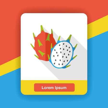 Pitaya fruits flat icon