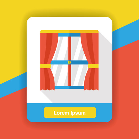 architectural styles: furniture window flat icon Illustration