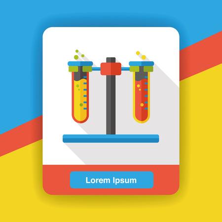 experimento: Experimento icono plana Beaker