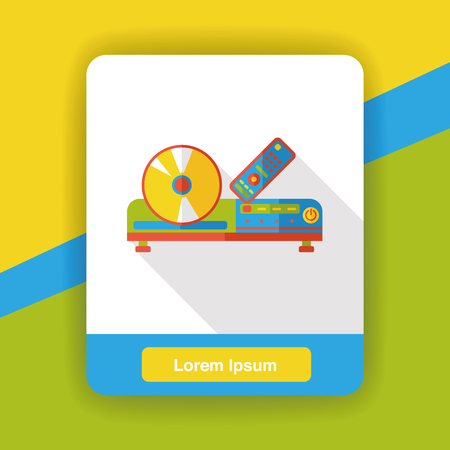 dvd player: DVD player flat icon Illustration