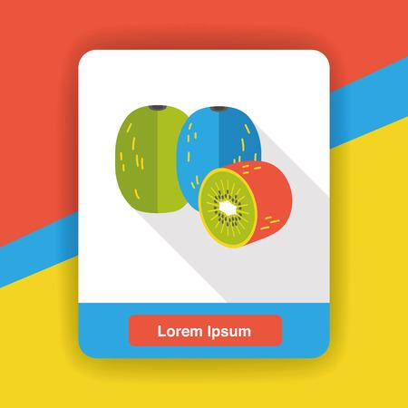 kiwi: kiwi fruits flat icon Illustration