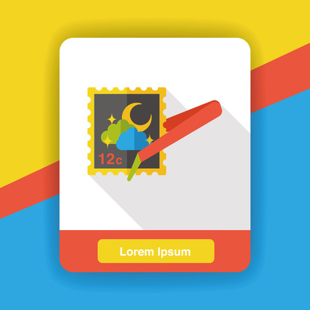 to collect: collect stamp flat icon