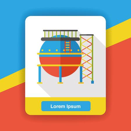 reservoir: water reservoir flat icon Illustration