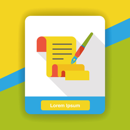 poetry: paper poetry flat icon Illustration