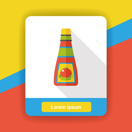background design: sauce ketchup flat icon