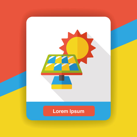 panels: solar panels flat icon Illustration