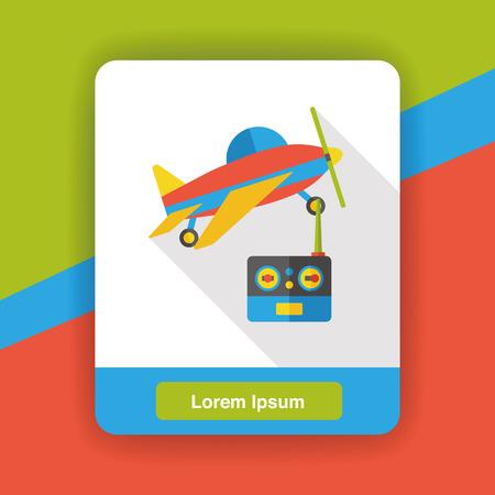 remote: Remote control aircraft flat icon Illustration