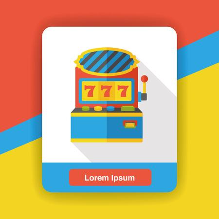 slot: Slot Machine flat icon Illustration