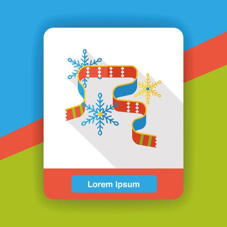 snowy: weather snowy scarf flat icon Illustration