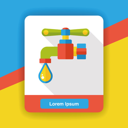 faucet water: Faucet water flat icon Illustration