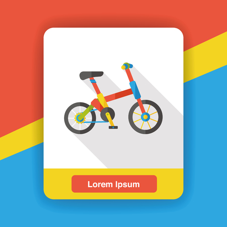 ride: bicycle ride flat icon