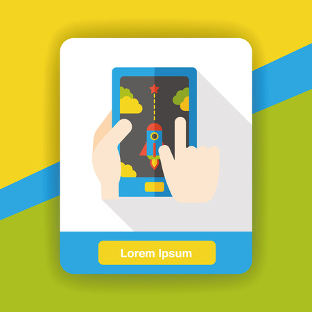 cellphone icon: cellphone game flat icon Illustration