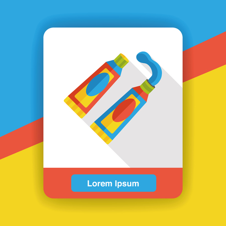 pigment: paint pigment flat icon Illustration