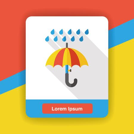 raining: weather raining umbrella flat icon